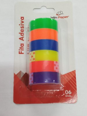 Fita Color 12Mmx8M 6 Rolos Wpf20042